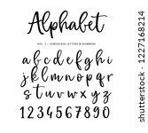 hand drawn vector alphabet ... | Shutterstock .eps vector #1227168214