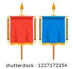 red and blue roman vexillum....   Shutterstock .eps vector #1227172354