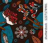 winter seamless pattern design   Shutterstock .eps vector #1227178981