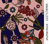 winter seamless pattern design   Shutterstock .eps vector #1227178984