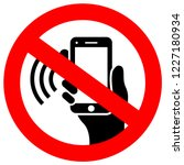 No Phone Using Vector Sign...