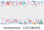 new year social media posts ... | Shutterstock .eps vector #1227184231