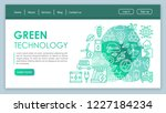 green technology web page... | Shutterstock .eps vector #1227184234