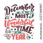 december inspirational quote.... | Shutterstock .eps vector #1227184987