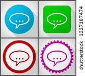 vector icons with 4 options....   Shutterstock .eps vector #1227187474