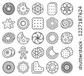 biscuit icon set. outline set... | Shutterstock .eps vector #1227187624