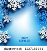merry christmas  greeting... | Shutterstock .eps vector #1227189361