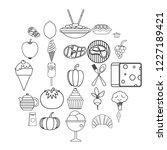 veggies icons set. outline set...   Shutterstock .eps vector #1227189421