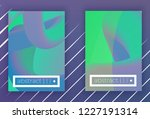 set of modern colorful vector... | Shutterstock .eps vector #1227191314