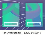 set of modern colorful vector... | Shutterstock .eps vector #1227191347