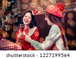 christmas and new year party... | Shutterstock . vector #1227199564