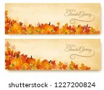 two thanksgiving holiday... | Shutterstock .eps vector #1227200824