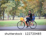 brother and sister cycling... | Shutterstock . vector #122720485