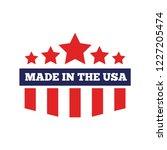 vector label  logo  badge or... | Shutterstock .eps vector #1227205474