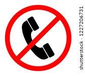 no phone sign. vector... | Shutterstock .eps vector #1227206731