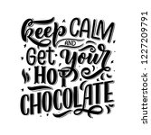 hot chocolate hand lettering... | Shutterstock .eps vector #1227209791
