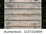 rustic weathered wood surface... | Shutterstock . vector #1227210004