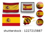 set of spain flags collection... | Shutterstock .eps vector #1227215887
