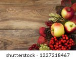 rustic greeting background with ... | Shutterstock . vector #1227218467