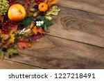 thanksgiving rustic greeting... | Shutterstock . vector #1227218491