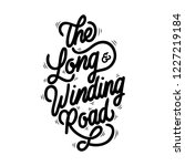 the long and winding road... | Shutterstock .eps vector #1227219184