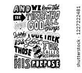 those who love god... | Shutterstock .eps vector #1227222481