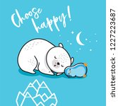 choose happy. little penguin... | Shutterstock .eps vector #1227223687