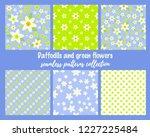 spring vector seamless pattern... | Shutterstock .eps vector #1227225484