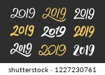new year collection  2019... | Shutterstock .eps vector #1227230761