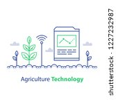 agriculture technology  smart... | Shutterstock .eps vector #1227232987