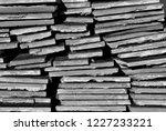 broken tiles background  black... | Shutterstock . vector #1227233221