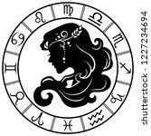 virgo. horoscope. zodiac sign....   Shutterstock .eps vector #1227234694