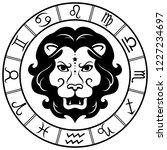 leo. horoscope. zodiac sign....   Shutterstock .eps vector #1227234697