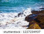 waves of the atlantic ocean... | Shutterstock . vector #1227234937