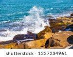waves of the atlantic ocean... | Shutterstock . vector #1227234961