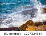 waves of the atlantic ocean... | Shutterstock . vector #1227234964