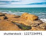 unusual background of stones ... | Shutterstock . vector #1227234991