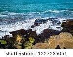 waves of the atlantic ocean... | Shutterstock . vector #1227235051