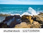 waves of the atlantic ocean... | Shutterstock . vector #1227235054