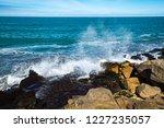 waves of the atlantic ocean... | Shutterstock . vector #1227235057