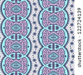 beautiful lace pattern | Shutterstock .eps vector #122724139