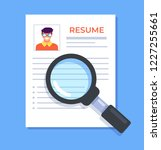 resume paper document with... | Shutterstock .eps vector #1227255661