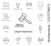 insurance law icon. simple... | Shutterstock . vector #1227278071