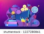 businessman look with magnifier ... | Shutterstock .eps vector #1227280861