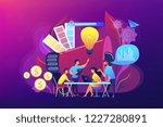 digital marketing team with...   Shutterstock .eps vector #1227280891