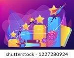 businessmen climb growth column ... | Shutterstock .eps vector #1227280924