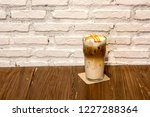 ice caramel macchiato in the... | Shutterstock . vector #1227288364