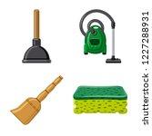 vector illustration of cleaning ... | Shutterstock .eps vector #1227288931