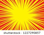 radial zoom speed line red on... | Shutterstock .eps vector #1227290857