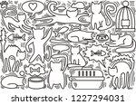 hand drawn vector illustrations ... | Shutterstock .eps vector #1227294031